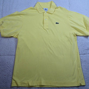 Lacoste Devanlay Yellow Polo Shirt Size 5 or Large